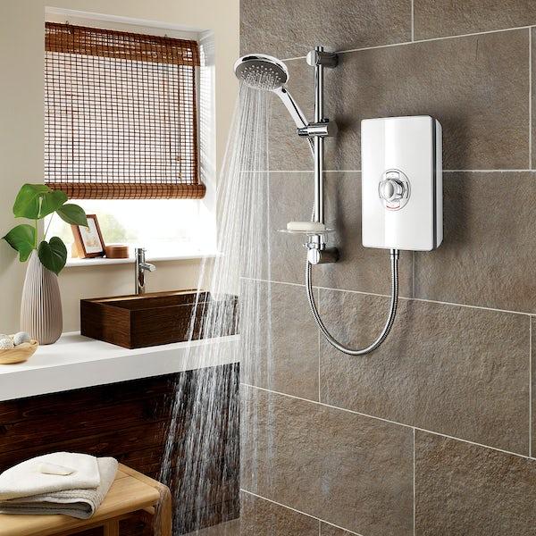 Triton Aspirante 8.5kw electric shower gloss white