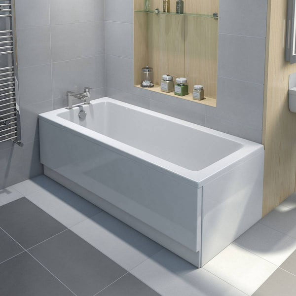 Orchard square edge single ended bath