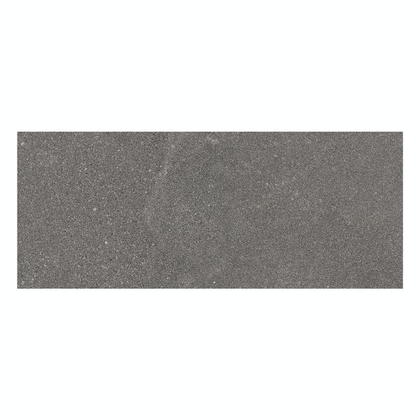 Matano dark grey flat stone effect matt wall tile 250mm x 600mm