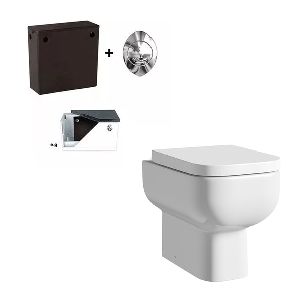 RAK Series 600 back to wall toilet with soft close seat and concealed cistern