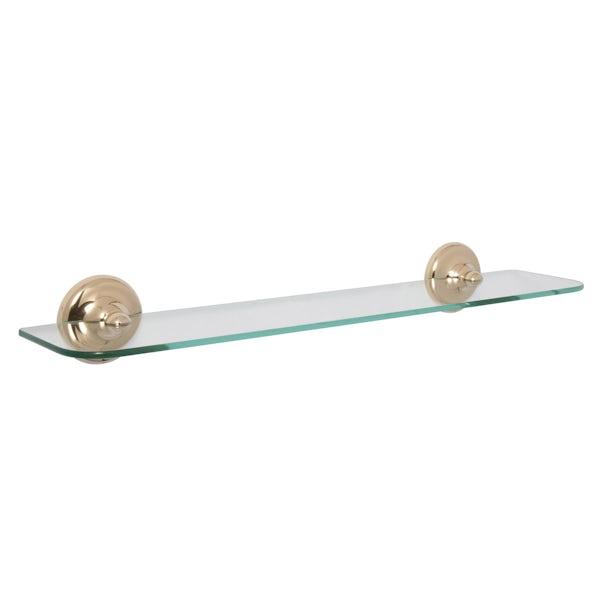 Croydex Grosvenor gold glass shelf