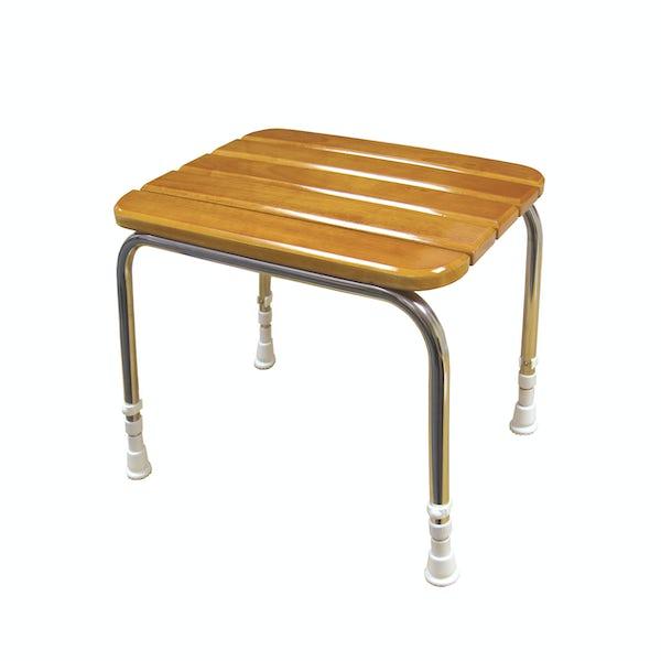 AKW Wooden freestanding shower seat