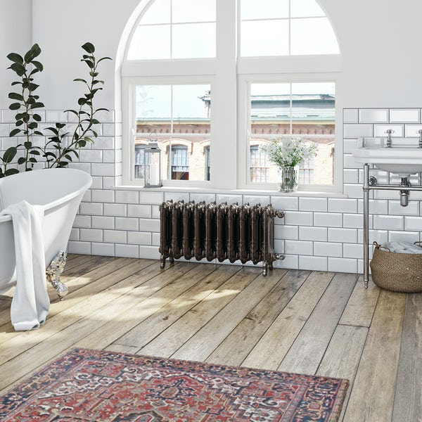 Terma Oxford russet freestanding cast iron radiator 470 x 852