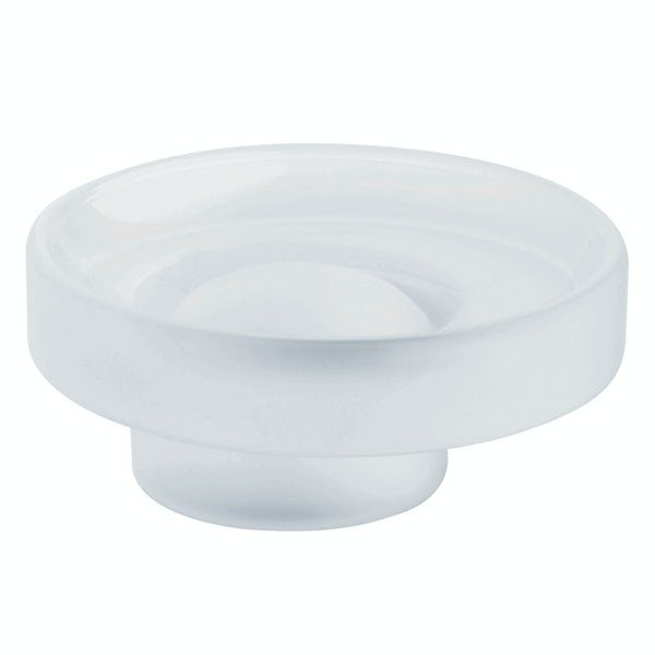 Grohe glass soap dish