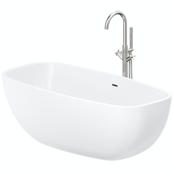 Mode Ellis freestanding bath & tap pack with Tate bath filler