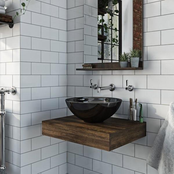 The Bath Co. Dalston countertop basin shelf
