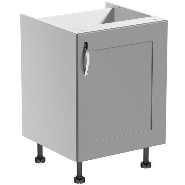 Schön New England light grey shaker base unit