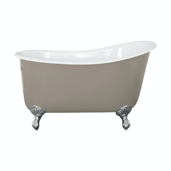 The Bath Co. Berkeley pavilion grey cast iron bath
