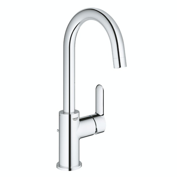 Grohe BauEdge large mono single level basin mixer tap with pop up waste