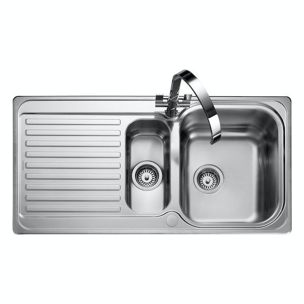 Rangemaster Sedona 1.5 bowl reversible kitchen sink