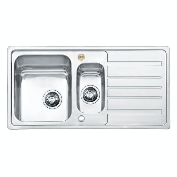 Bristan Index easyfit universal sink 1.5 bowl stainless steel