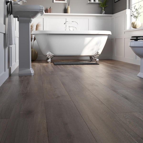 Bois chestnut brown laminate flooring 8mm