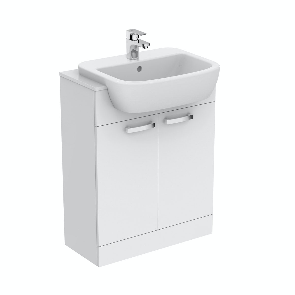 Ideal Standard Tempo gloss white vanity door unit and basin 650mm