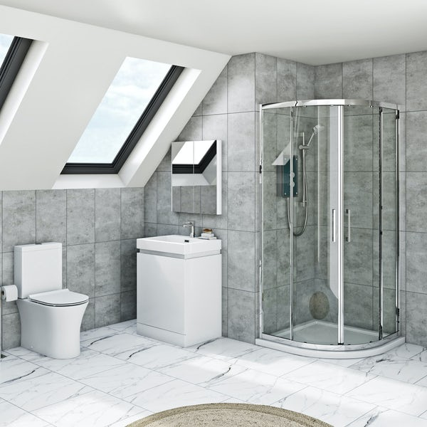 Mira and Mode Tate complete shower enclosure and furniture suite 800 x 800