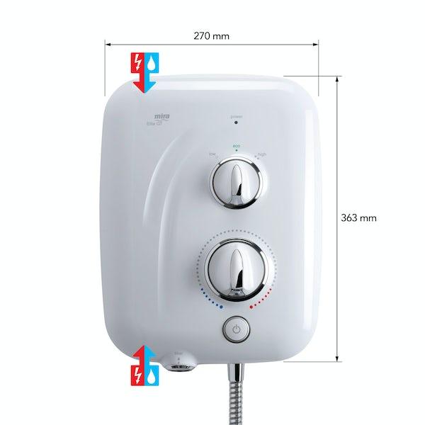 Mira Elite QT 9.8kw pumped electric shower