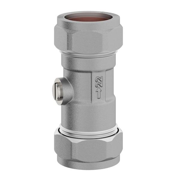 Straight isolation valve 22mm x 22mm