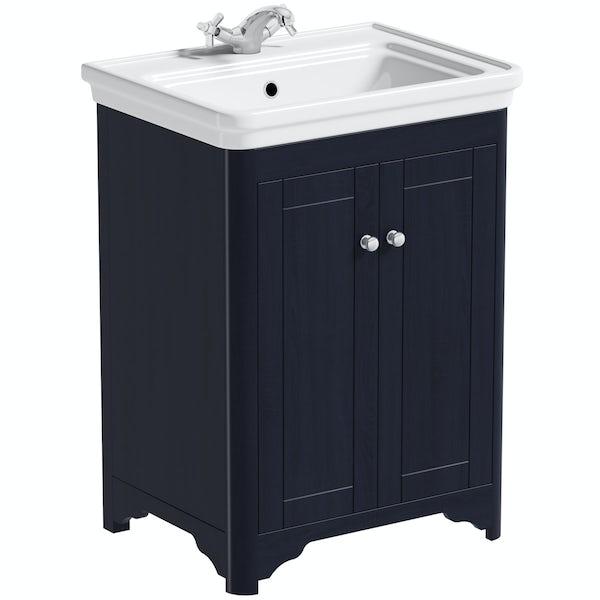 The Bath Co. Beaumont sapphire blue vanity unit 620mm