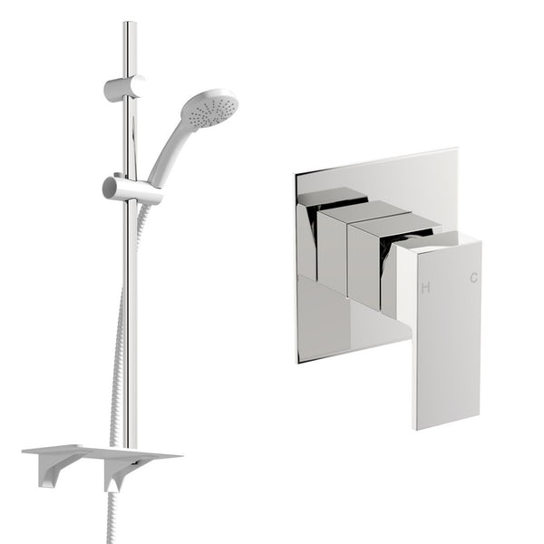 Orchard Square manual concealed mixer shower with slider rail