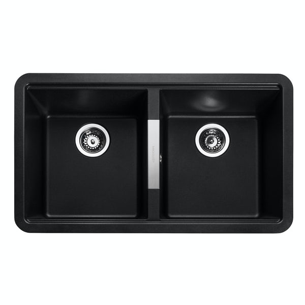 Rangemaster Paragon 2.0 bowl undermount ash black kitchen sink