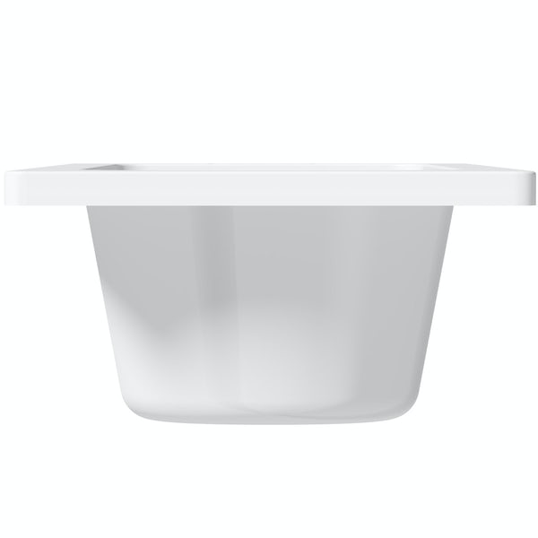 Clarity straight shower bath with 5mm shower screen