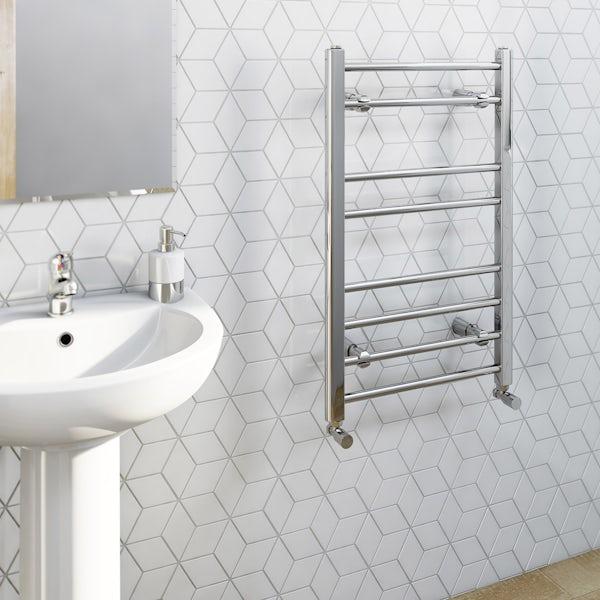 Clarity heated towel rail 800 x 500