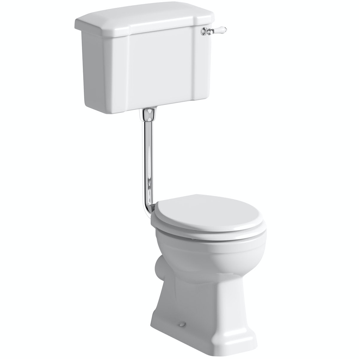 The Bath Co Camberley Low Level Toilet With Wooden Soft