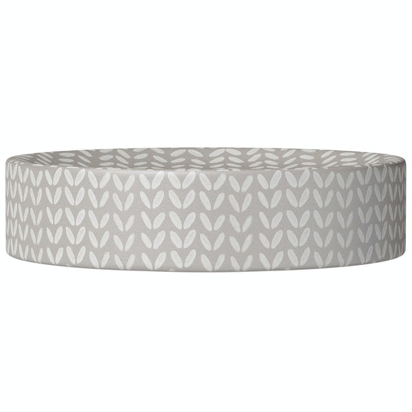 Accents ceramic grey patterned soap dish