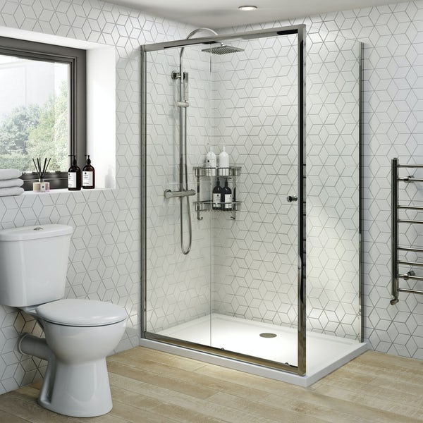 Clarity 4mm sliding shower enclosure