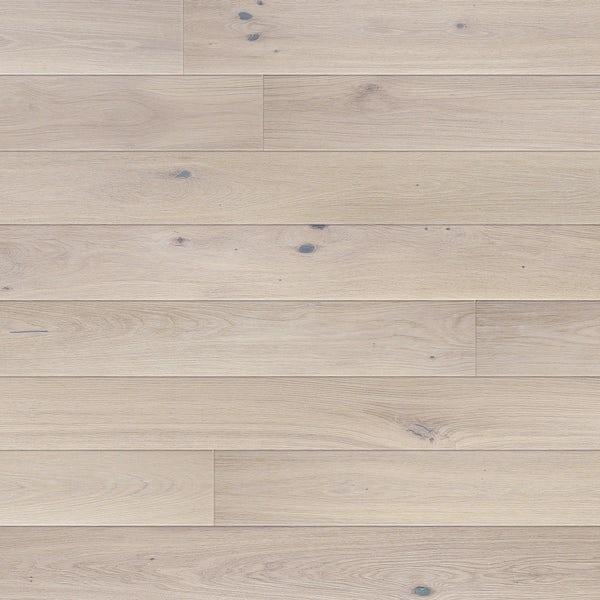 Basix Narrow Alaska White engineered matt UV lacquered click wood flooring