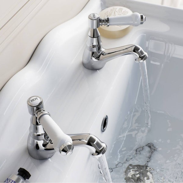 The Bath Co. Winchester basin tap and bath shower mixer standpipe pack