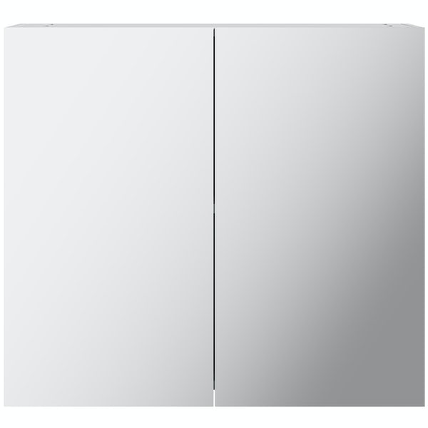 Mode Adler white mirror cabinet