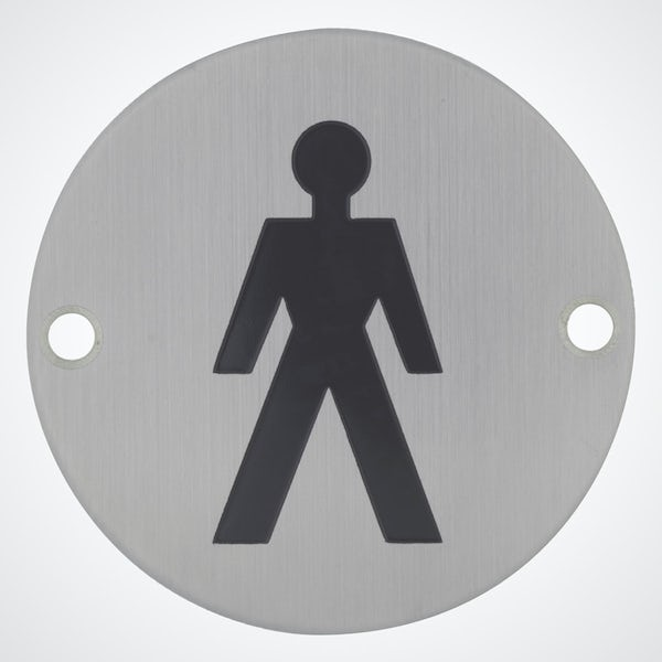 Dolphin pictograph male toilet sign