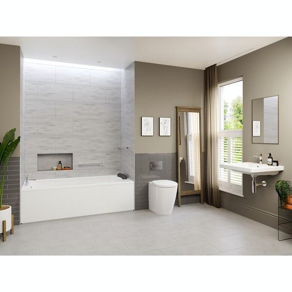 Ideal Standard Concept Freedom complete left handed shower bath suite 1700 x 800
