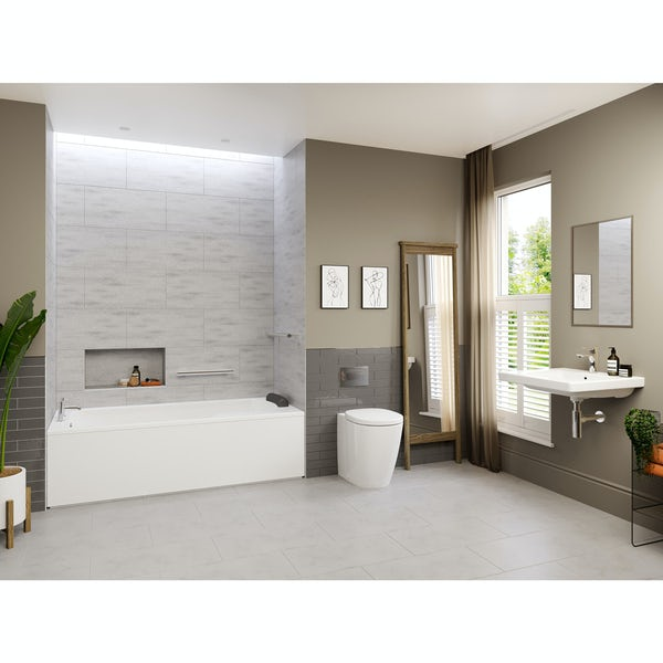 Ideal Standard Concept Freedom complete left handed shower bath suite 1700 x 800
