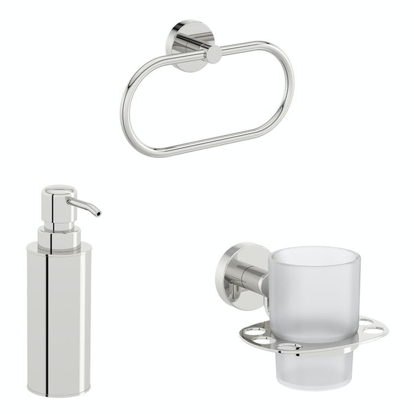 Accents Options round basin accessories set