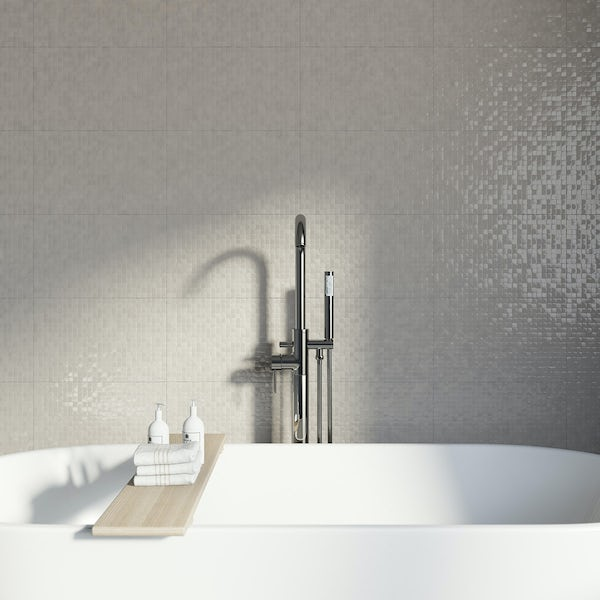 Studio Conran Hartland Putty Pressed Mosaic Beige Gloss
