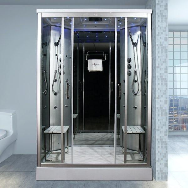 Insignia rectangular steam shower cabin 1400 x 900