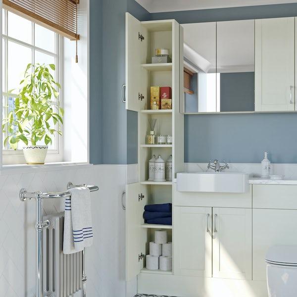 The Bath Co. Newbury white tall cabinet