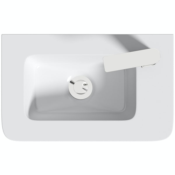 Mode De Gale white cloakroom floorstanding vanity unit and right hand basin 410mm