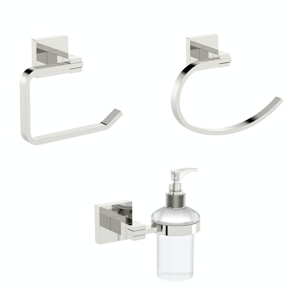 Orchard Wye square cloak room 3 piece accessory set
