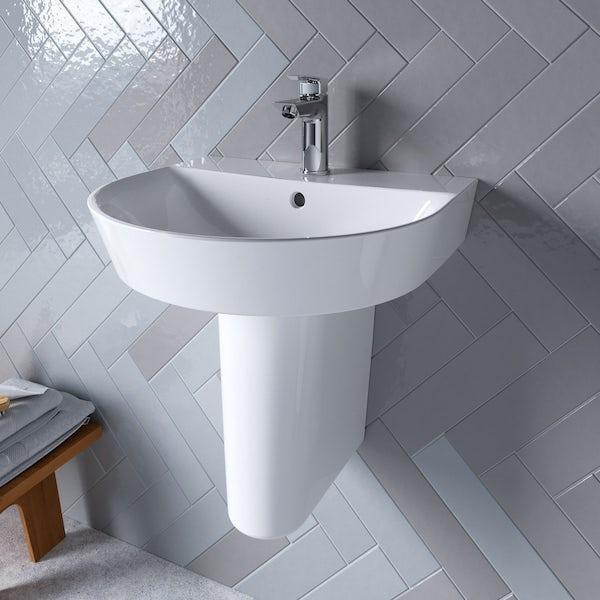 Ideal Standard Concept Air Arc 1 tap hole semi pedestal basin 500mm