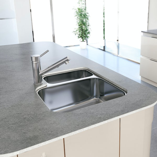 Tuscan Florence stainless steel 1.5 bowl universal undermount kitchen sink
