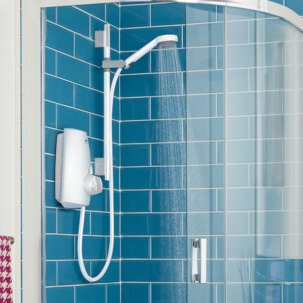 Aqualisa Aquastream thermostatic power shower white
