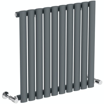 The Heating Co. Salvador anthracite grey single horizontal radiator