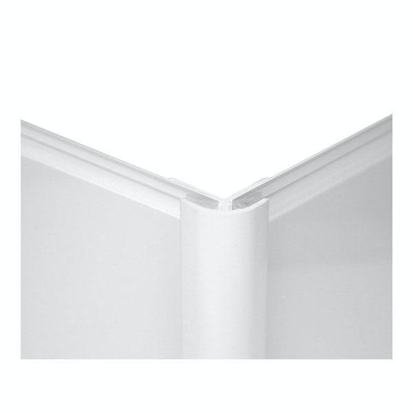 Zenolite plus matt ice colour matched external corner joint 250mm