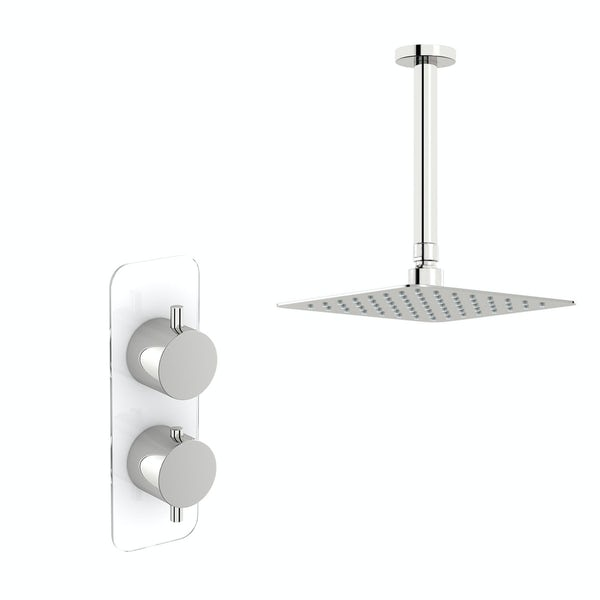 Mode Austin thermostatic shower valve with ceiling shower set