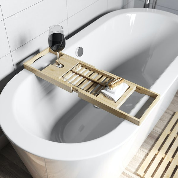 Accents bamboo bath caddy
