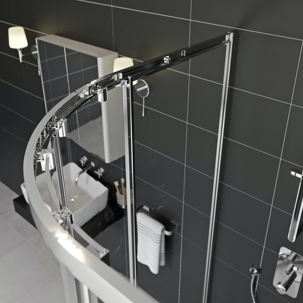 Mode Meier 8mm framed offset quadrant shower enclosure