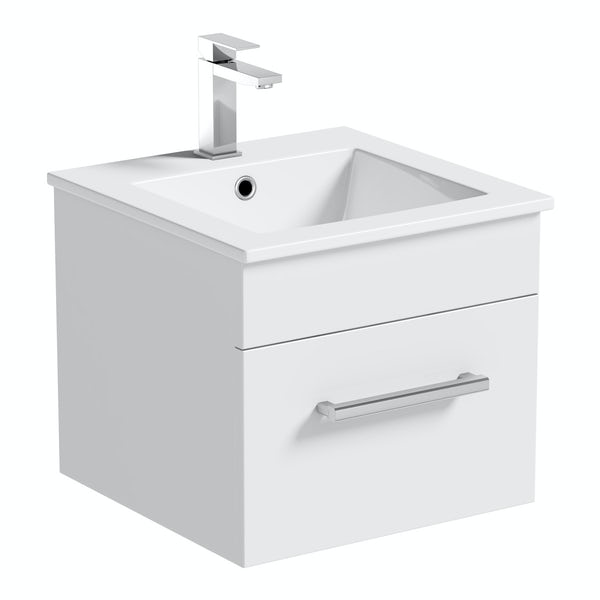 Orchard Derwent white wall hung vanity unit 420mm