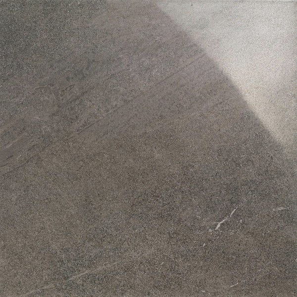 Alden lux coal stone effect gloss wall and floor tile 600mm x 600mm